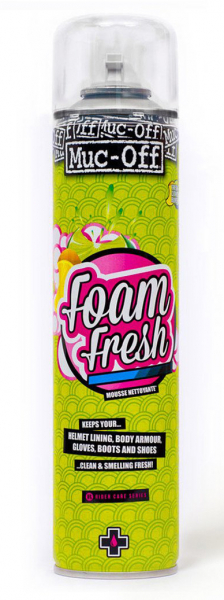 MUC-OFF MOTORCYCLE HELMET FOAM FRESH SANITIZER 400ml 199