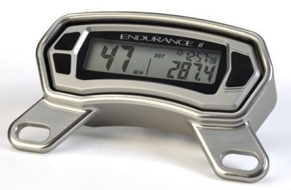 Trail Tech TRAIL TECH ENDURANCE II DIGITAL GAUGE TOP MOUNT SILVER