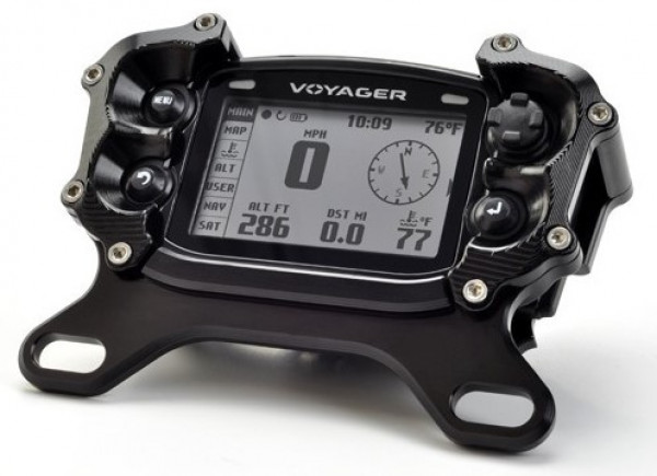 Trail Tech TRAIL TECH VAPOR DIGITAL GAUGE TOP MOUNT PROTECTOR BLACK