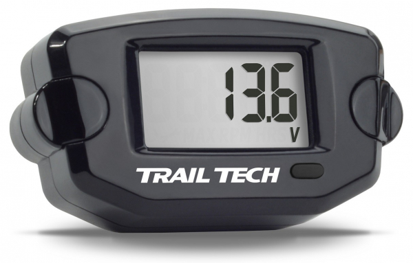 Trail Tech TRAIL TECH TTO DIGITAL VOLT METER GAUGE BLACK