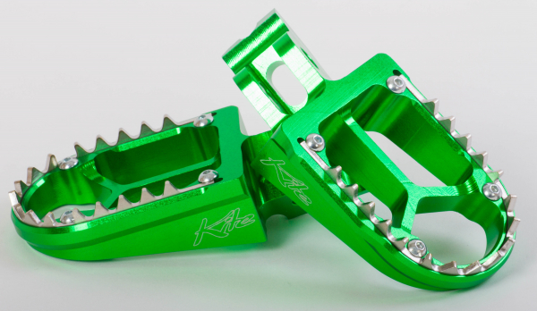 KITE FOOT PEG BILLET ALLOY KAWASAKI GREEN 29.040.0.G