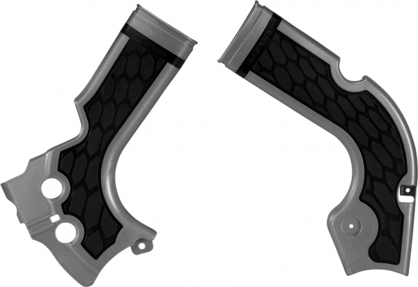 ACERBIS X-GRIP FRAME GUARDS CRF 250 14-17 450 13-16 SILVER-BLK 17573.020