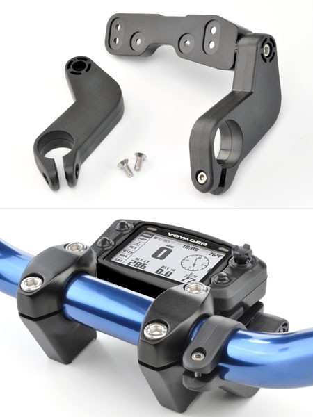 TRAIL TECH VOYAGER VAPOR DIGITAL GAUGE HANDLEBAR MOUNT KIT 9000-1000