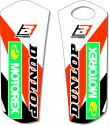 BLACKBIRD DECALS LOWER FORK KTM SX SXF 08-14 EXC EXCF 08-15 B5522