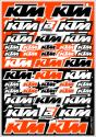 BLACKBIRD DECAL UNIVERSAL KTM LOGO STICKER SHEET B5076K