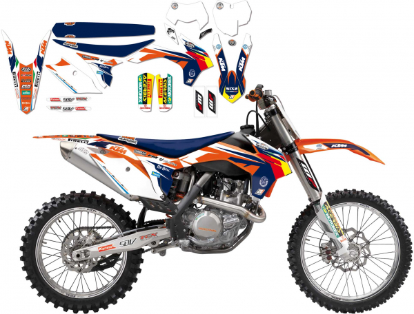 BLACKBIRD DECALS TEAM REPLICA TROPHY KTM EXC EXCF 14-16 SX SXF 13-15 B8538R14
