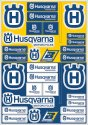 BLACKBIRD DECAL UNIVERSAL HUSQVARNA LOGO STICKER SHEET B5076HS