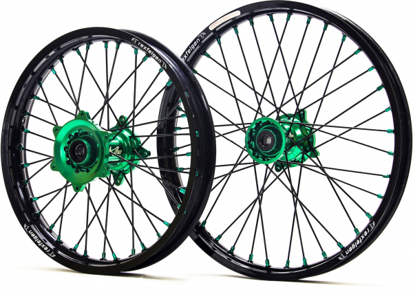 Kite Performance KITE WHEELS SPORTS KX 250 03-08 KXF 450 06-18 BLACK SPOKES