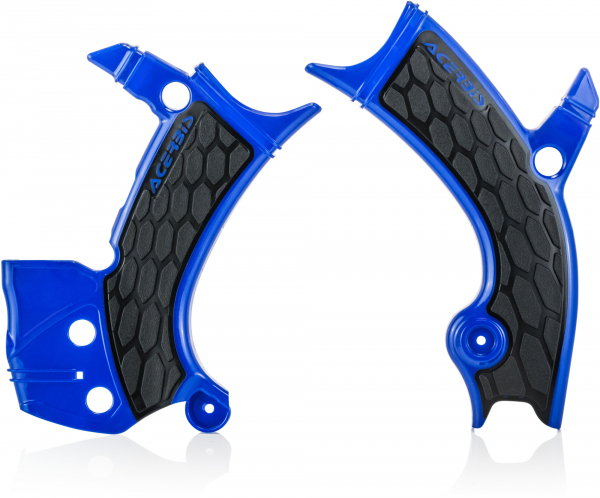 ACERBIS X-GRIP FRAME GUARDS YZF 250 19-21 450 18-21 BLUE-BLK 23093.040