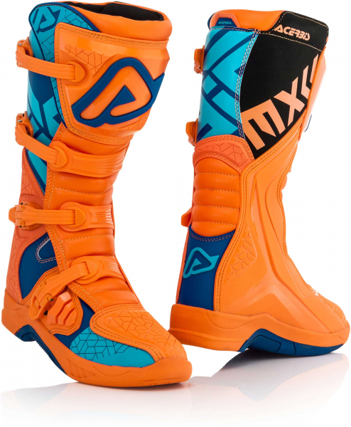 ACERBIS BOOTS X-TEAM ORANGE BLUE 42 42 22999.204.042