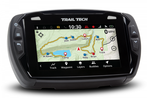 Trail Tech TRAIL TECH VOYAGER PRO DIGITAL GPS SPEEDO GAUGE CONVENTIONAL FORK WATER COOLED 25mm