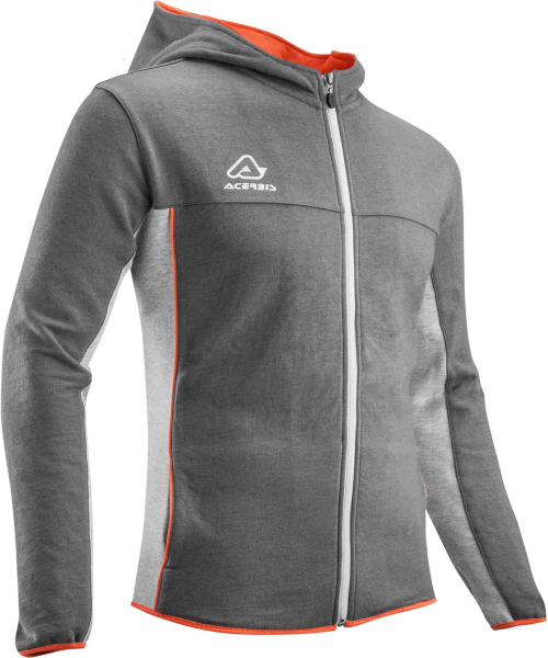ACERBIS HOODIE FULL ZIP EVO GREY ORANGE XL XL 22194.285.068
