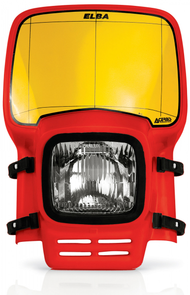 Acerbis ACERBIS HEADLIGHT ELBA RED