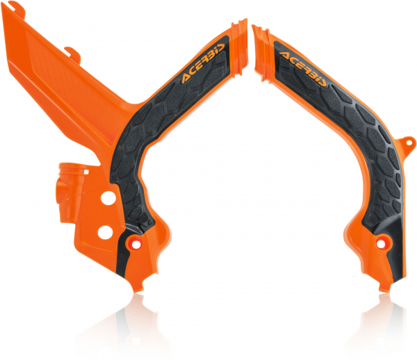 ACERBIS X-GRIP FRAME GUARDS KTM SX SXF 19-20 ORANGE BLACK 23599.209