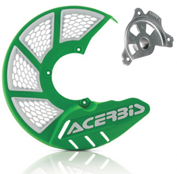 Acerbis ACERBIS X-BRAKE 2.0 DISC COVER & MOUNT GREEN WHITE KX KXF
