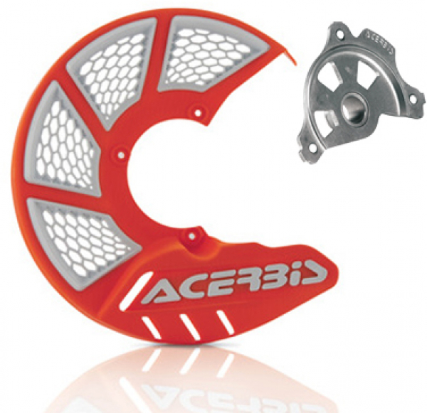 Acerbis ACERBIS X-BRAKE 2.0 DISC COVER & MOUNT ORANGE WHITE SX SXF 15> EXC EXCF 16>