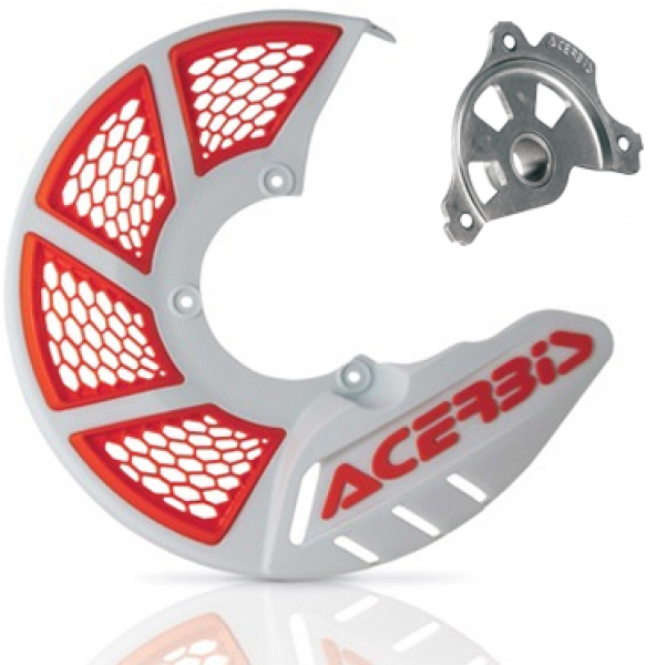 Acerbis ACERBIS X-BRAKE 2.0 DISC COVER & MOUNT WHITE ORANGE SX SXF 15> EXC EXCF 16>