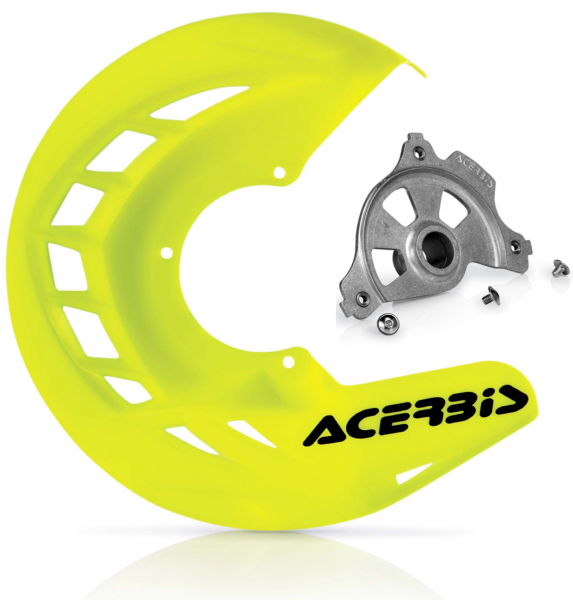 Acerbis ACERBIS X-BRAKE DISC COVER & MOUNT FLO YELLOW BETA 13-19