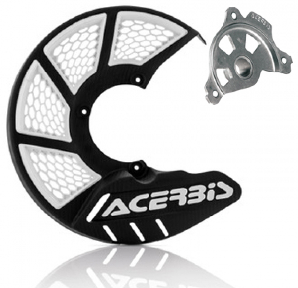 Acerbis ACERBIS X-BRAKE 2.0 DISC COVER & MOUNT BLACK WHITE YAMAHA YZ 04-19 YZF 04-13