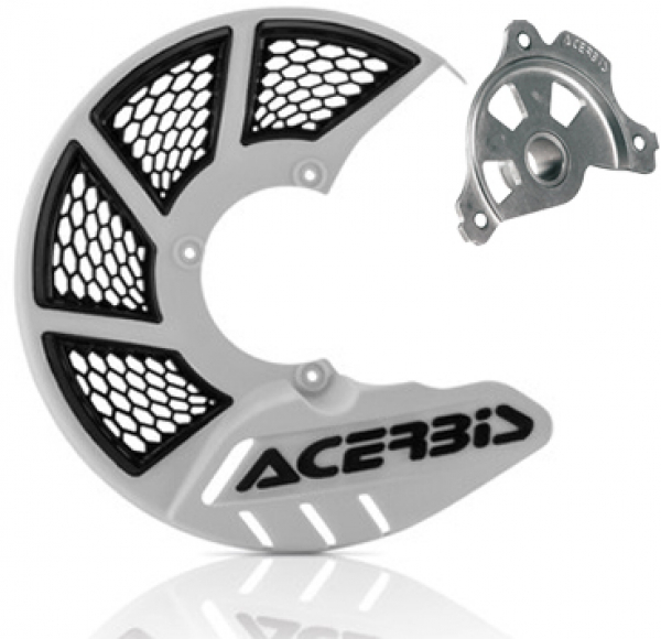Acerbis ACERBIS X-BRAKE 2.0 DISC COVER & MOUNT WHITE BLACK YAMAHA YZ 04-19 YZF 04-13