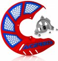 ACERBIS X-BRAKE 2.0 DISC COVER & MOUNT RED BLUE YAMAHA YZ 04-19 YZF 04-13 846344.20080