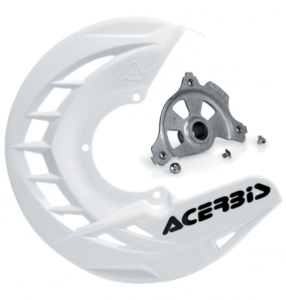 Acerbis ACERBIS X-BRAKE DISC COVER & MOUNT WHITE YAMAHA YZ 04-19 YZF 04-13