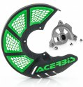 ACERBIS X-BRAKE 2.0 DISC COVER & MOUNT BLACK GREEN KAWASAKI KXF 450 19 846325.23663