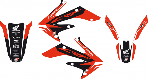 Blackbird Racing BLACKBIRD GRAPHICS KIT DREAM 4 HONDA CRF 250 04-09 CRFX 04-16