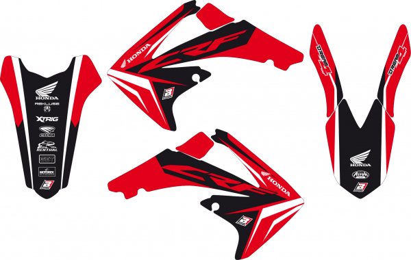 Blackbird Racing BLACKBIRD GRAPHICS KIT DREAM 4 HONDA CRF 250 10-13 450 09-12