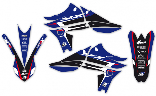 Blackbird Racing BLACKBIRD GRAPHICS KIT DREAM 4 YAMAHA YZF 450 10-13