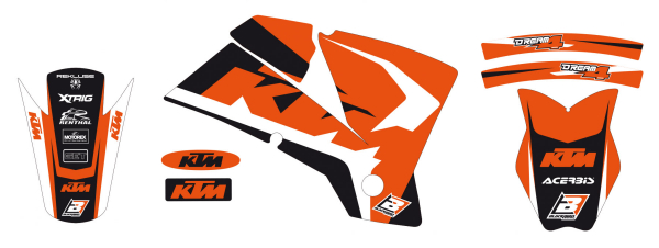 Blackbird Racing BLACKBIRD GRAPHICS KIT DREAM 4 SX SXF 01-04 EXC EXCF 03-04
