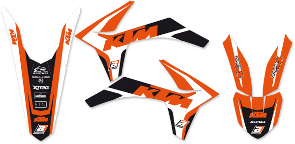 Blackbird Racing BLACKBIRD GRAPHICS KIT DREAM 4 KTM SX SXF 11-12 EXC EXCF 12-13