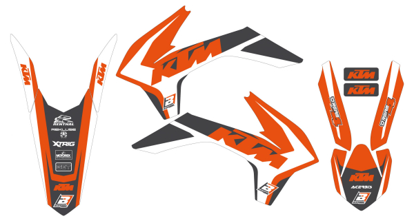 Blackbird Racing BLACKBIRD GRAPHICS KIT DREAM 4 KTM SX SXF 13-15 EXC EXCF 14-16