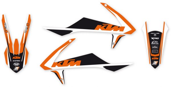 Blackbird Racing BLACKBIRD GRAPHICS KIT DREAM 4 KTM SX SXF 16-18 EXC EXCF 17-19