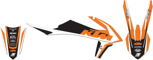 Blackbird Racing BLACKBIRD GRAPHICS KIT DREAM 4 KTM SX SXF 19-20 EXC EXCF 20