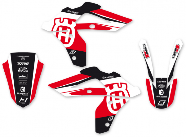 Blackbird Racing BLACKBIRD GRAPHICS KIT DREAM 4 HUSQVARNA WR CR 06-08 RED