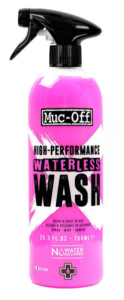 MUC-OFF MOTORCYCLE WATERLESS WASH 750ml 1132