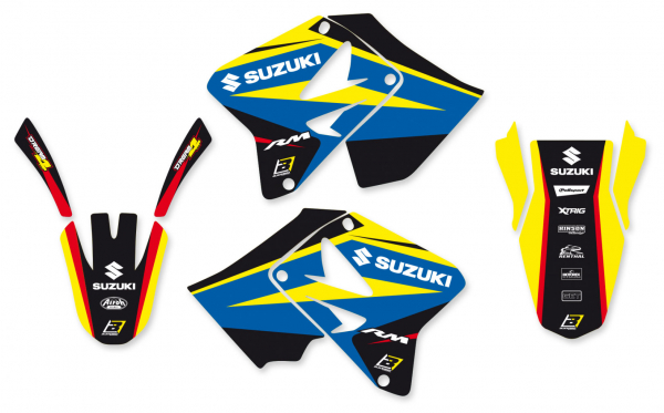 Blackbird Racing BLACKBIRD GRAPHICS KIT DREAM 4 SUZUKI RM 125 250 01-08
