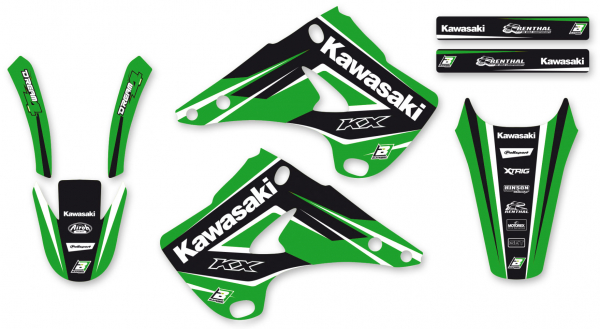 BLACKBIRD GRAPHICS KIT DREAM 4 KAWASAKI KX125 KX250 03-08 B2408N