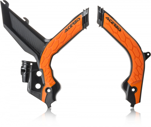 ACERBIS X-GRIP FRAME GUARDS KTM EXC EXCF 20 BLACK ORANGE 24009.313