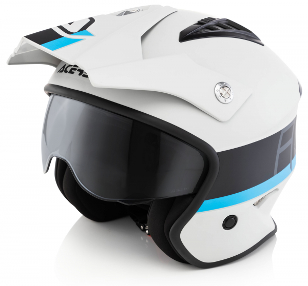 ACERBIS JET ARIA HELMET LIGHT GREY BLACK XS XS 22569.293.061