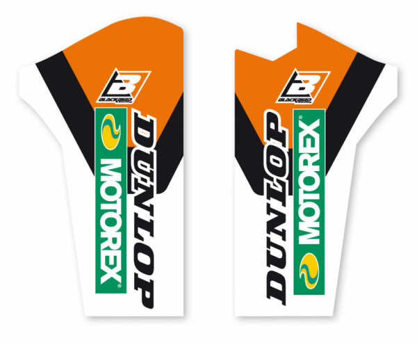 Blackbird Racing BLACKBIRD DECALS LOWER FORK D4 KTM SX SXF 08-14 EXC EXCF 08-15