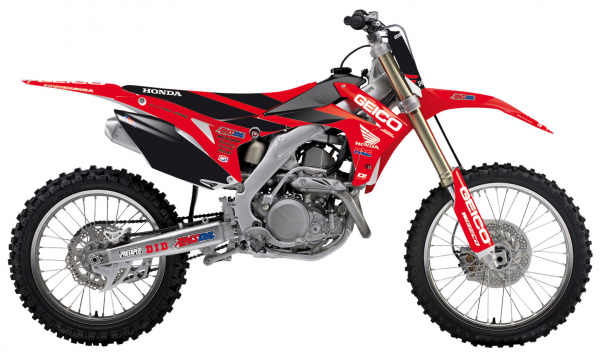 Blackbird Racing BLACKBIRD GRAPHICS KIT GEICO DCOR CRF 250 14-17 450 13-16