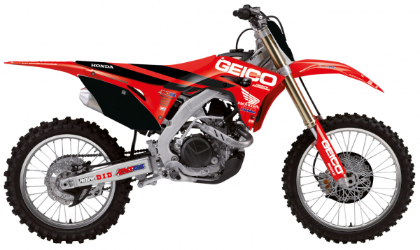 Blackbird Racing BLACKBIRD GRAPHICS KIT GEICO DCOR CRF 250 18-21 450 17-20