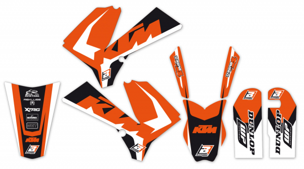 Blackbird Racing BLACKBIRD DECALS DREAM 4 KIT KTM SX 85 06-12