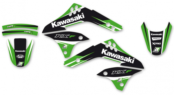 Blackbird Racing BLACKBIRD GRAPHICS KIT DREAM 4 KAWASAKI KXF 450 06-08