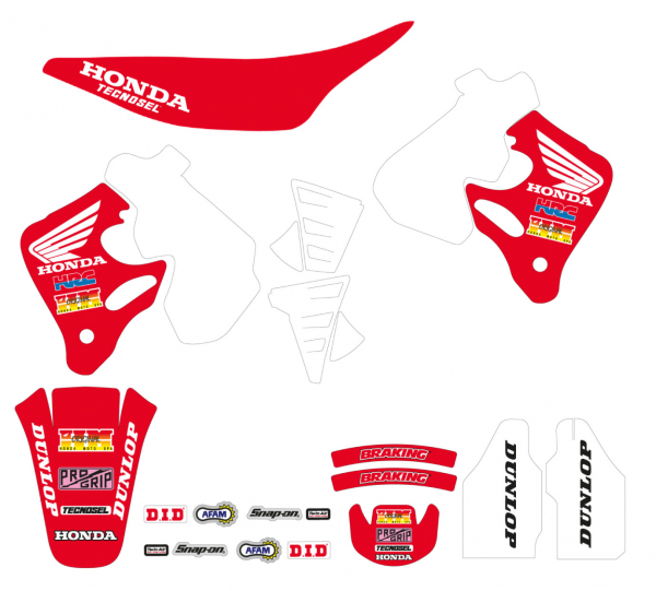 Blackbird Racing TECNOSEL GRAPHICS KIT TEAM REPLICA HONDA CR 125 93-94 250 92-94