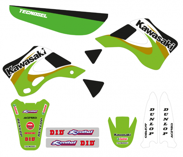 Blackbird Racing TECNOSEL GRAPHICS KIT REPLICA 2000 KX 125 250 99-02