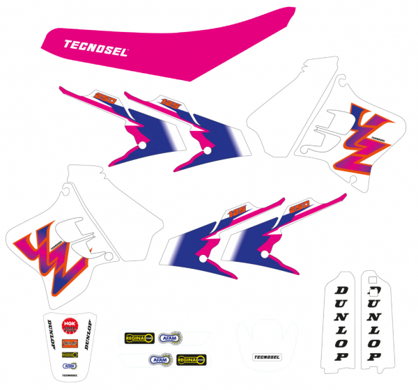 Blackbird Racing TECNOSEL DECALS REPLICA YAMAHA 93 YZ 125 250 93-95