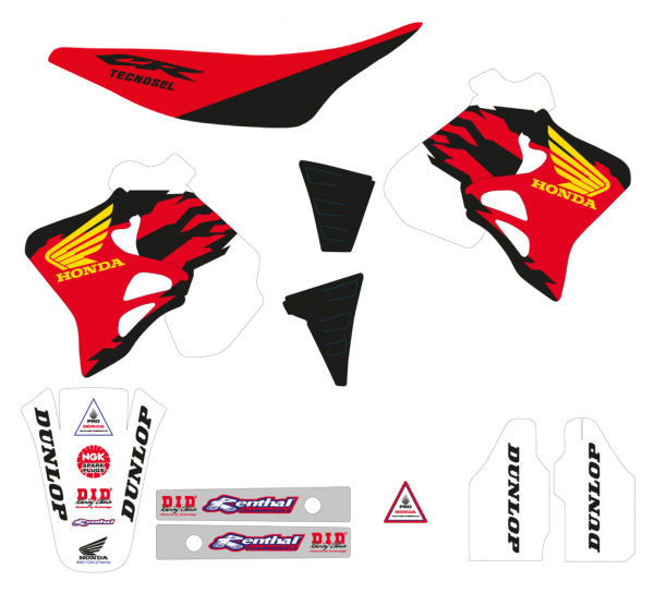 Blackbird Racing TECNOSEL GRAPHICS KIT TEAM REPLICA HONDA CR 125 95-97 250 95-96